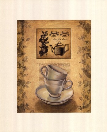Framed Tea for Two Print