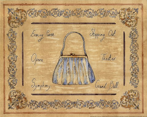 Framed Evening Purse Print