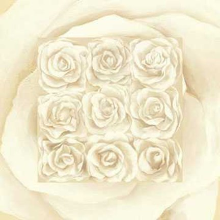 Framed Roses Cream 9 on 1 Print