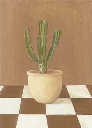 Framed Cactus Ground Chess 2 Print