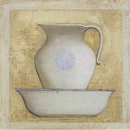 Framed Earthenware Pitcher 1 Print
