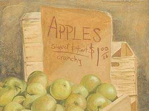 Framed English Apples Print