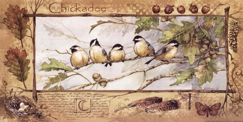 Framed Chickadee Print