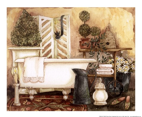 Bathroom I Fine Art Print By Diane Knott At Fulcrumgallery Com