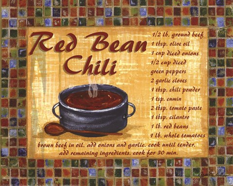 Framed Red Bean Chilli Print