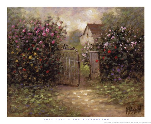 Framed Rose Gate Print