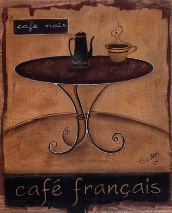 Framed Cafe Francais Print