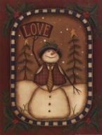 Love Snowman Art
