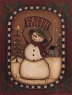 Faith Snowman  Fine Art Print