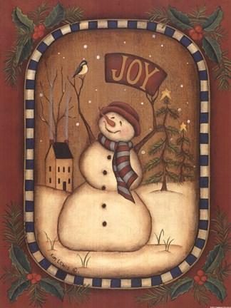 Joy Snowman Fine Art Print By Kim Lewis At Fulcrumgallery Com