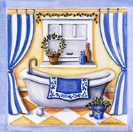 Blue Bathroom - Tub