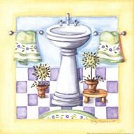 Yellow Bathroom - Sink  Fine Art Print