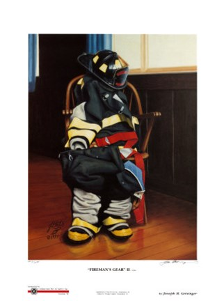 Framed Fireman's Gear II (Signed and Numbered Limited Edition) Print