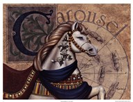 Carousel Horses I Art