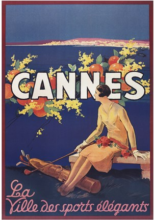 Framed Cannes Print