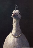 Fowl with Pearls  Fine Art Print