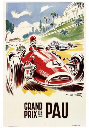 Framed Grand Prix de Pau Print