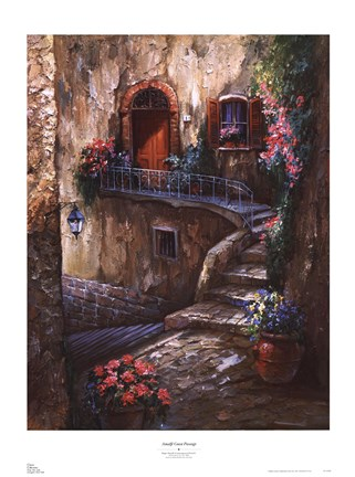 Framed Amalfi Coast Passage Print