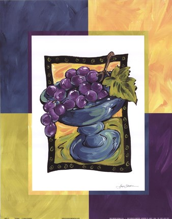 Framed Grapes Print