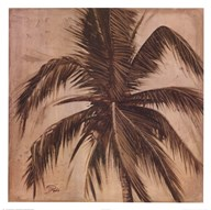 Sepia Palm III Art