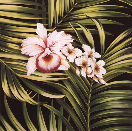 Framed Tropical Bouquet III Print