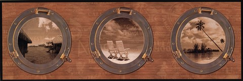 Framed Portholes to the World Print