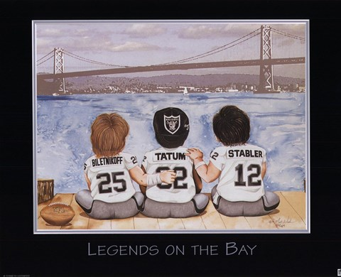 Framed Legends on the Bay Print