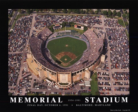 Memorial Stadium Baltimore Md Fine Art Print By Mike