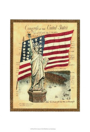 Framed Proud to be an American I Print