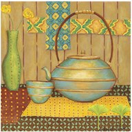 Ginkgo Tea Pot Art