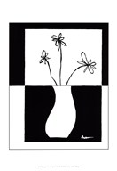 Minimalist Flower in Vase IV Art