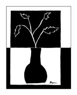 Minimalist Leaf in Vase I Art