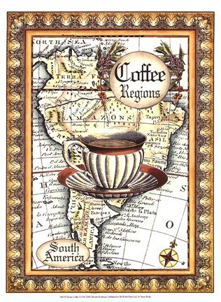 Framed Exotic Coffee (D) I Print