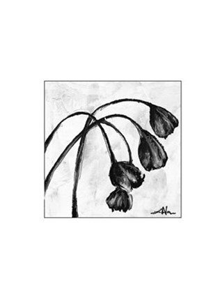 Framed Mini Swooning Tulips I (NA) Print