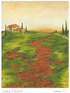 Tuscany at Sunset II Art