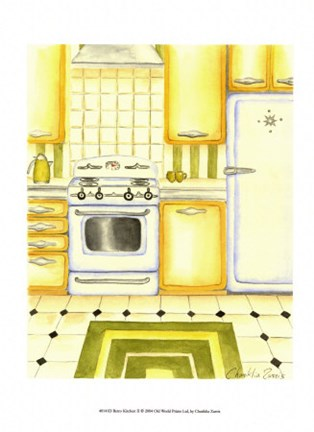Framed Retro Kitchen II Print