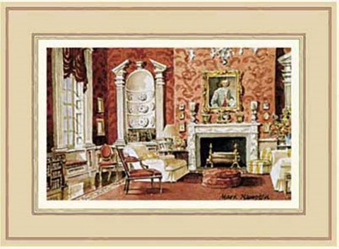 Framed Classic English Country House Drawing Room Print