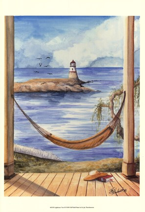 Framed Lighthouse View II Print