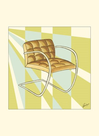 Framed Modern Chair II Print