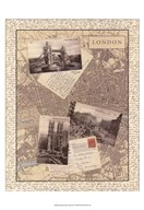 Post Cards from London  Fine Art Print