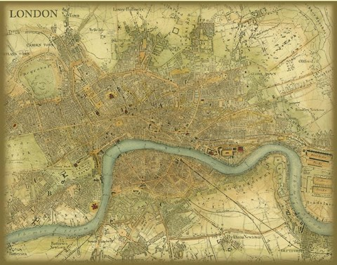Framed Map of London Print
