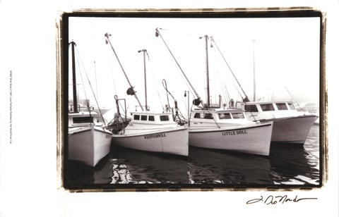 Framed Work Boats Print