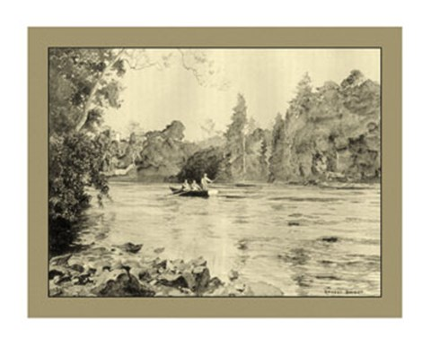 Framed On the River IV Print
