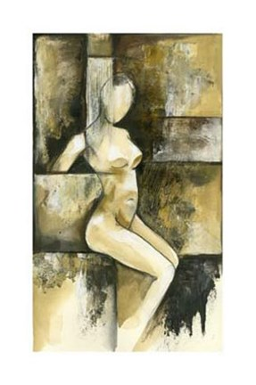 Framed Contemporary Seated Nude I Print
