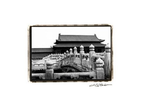 Framed Palace Bridge, Beijing Print