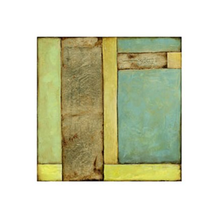 Framed Stained Glass Window III Print