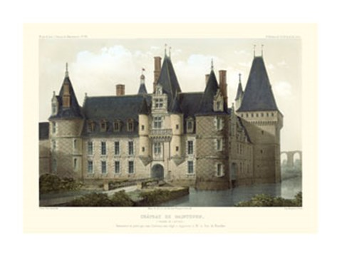 Framed French Chateaux II Print