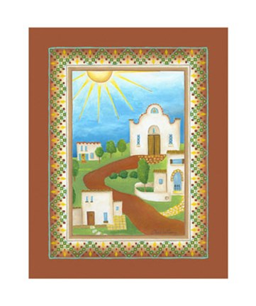 Framed Beautiful Day in Mexico Print