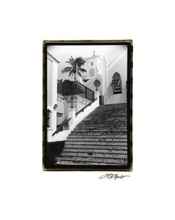 Framed Church Walk Print