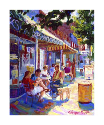 Framed Colorful Cafe Print